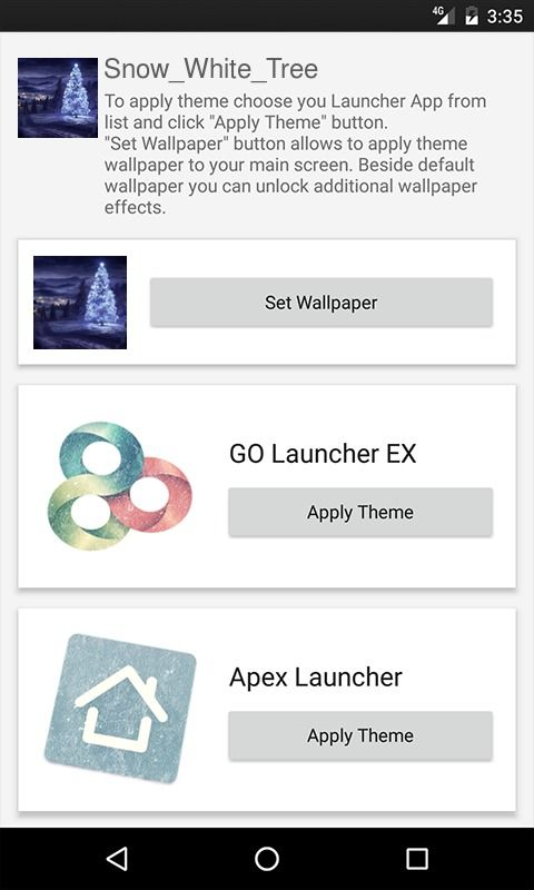 Snow White Tree Multi Launcher Theme