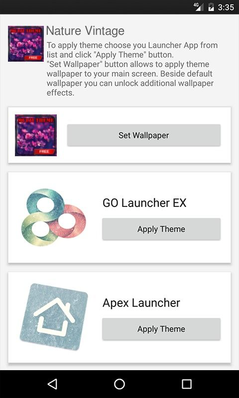 Nature Vintage ADW Launcher Theme