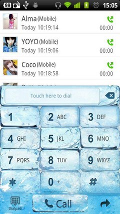 Iceblue GO Contacts Theme 3.0.0