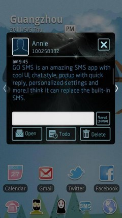 Star GO SMS Theme 1.0