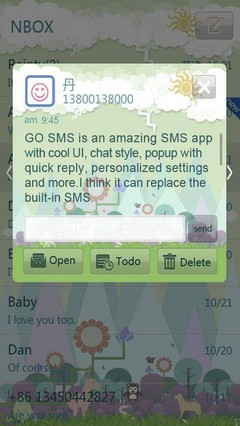 Forest ZOO GO SMS Theme 1.0