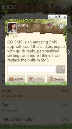 Spring GO SMS Theme 1.0