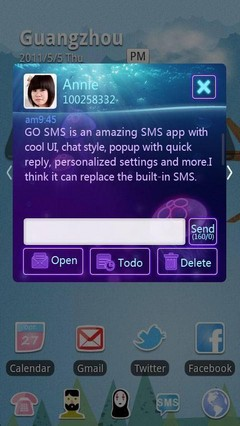 Submarine Jellyfish GO SMS Theme 1.0