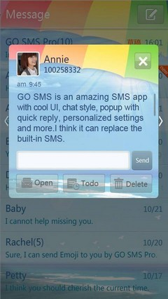 Summer GO SMS Theme 1.0