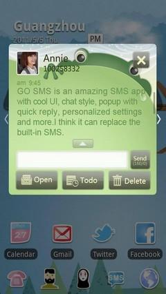 Thumbelina GO SMS Theme 1.0