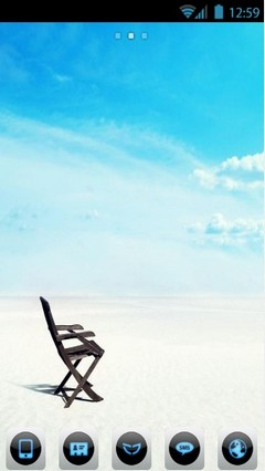 Beach with lonely Chair