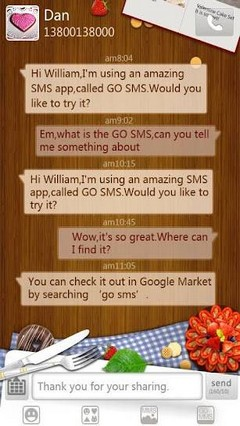 go sms romantic fruit theme