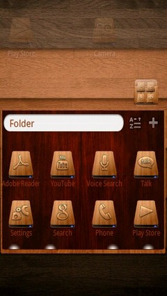 Wood Icon GO Launcher EX Theme