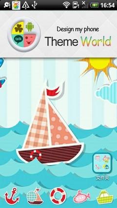 Sea World go launcher theme
