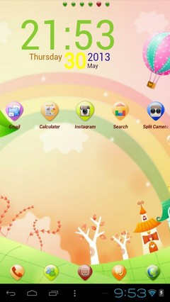 Rainbow Go Launcher Ex