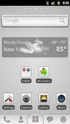 Grey Go Launcher Theme