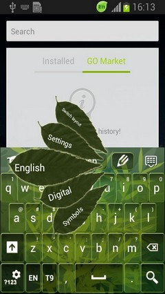 Abstract Leaves Keyboard-release