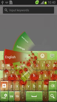 Poppy Flower Keyboard-release