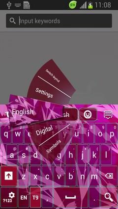 Pink Tulip Keyboard
