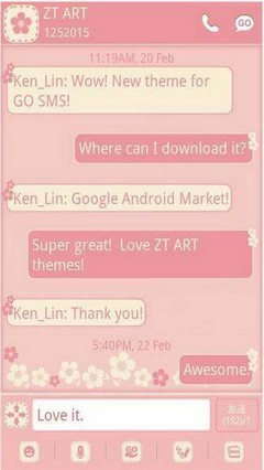 GO SMS- Flower theme
