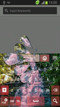 Pink Waterfall Keyboard