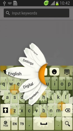 Chamomile Flower Keyboard