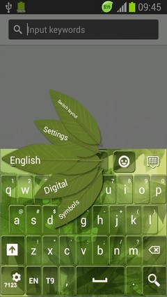 Light Leaves Keyboard