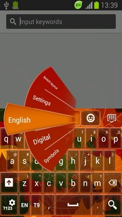 Autumn Leaves Keyboard