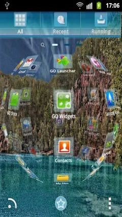 GO Launcher EX Theme Blue Lake-1