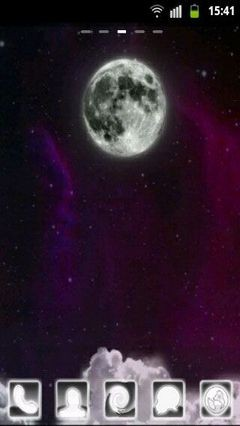 GO Launcher Cosmic Sky Theme-1