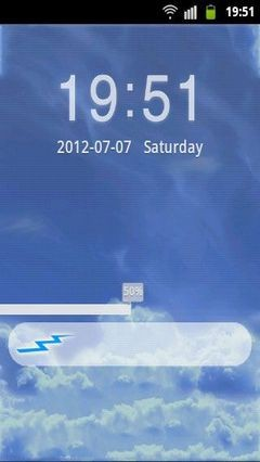 GO Locker Theme Blue Clouds-1
