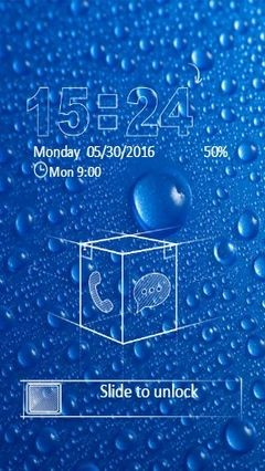 Blue Water Drops Go Locker Theme