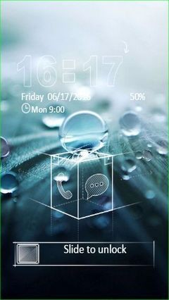Macro Raindrops Go Locker Theme