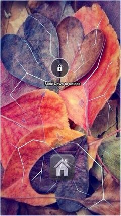 Heart Autumn Lock Screen