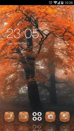 Amazing Orange Trees CLauncher Theme