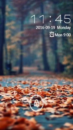 Autumn Rusty Leaves Go Locker Theme