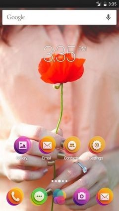 Mood Girl Flower Poppy Go Launcher Theme