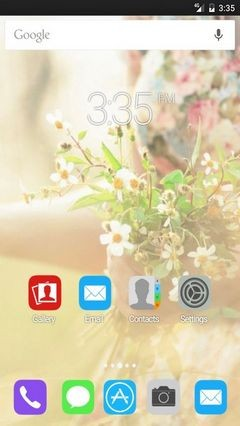Mood Girl Flowers Bokeh ADW Launcher Theme