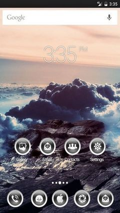 Nature Mountains Clouds Nova Launcher Theme