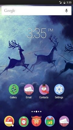 Santa Claus Moon Multi Launcher Theme