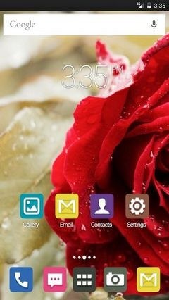 Beautiful Red Rose Apex Launcher Theme