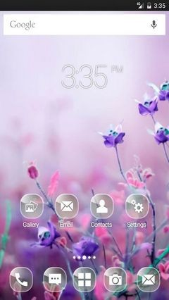 Pink begonia flowers wide ADW Launcher Theme