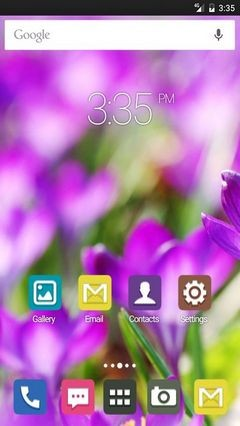 Purple crocus flower Apex Launcher Theme