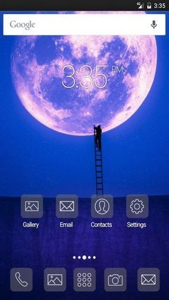 Road to moon Apex Launcher Theme