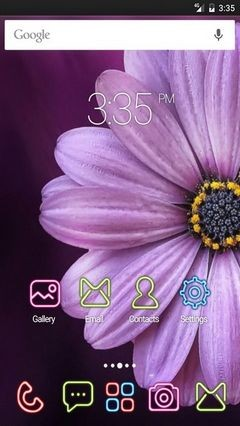Purple daisy flower GO Launcher Theme