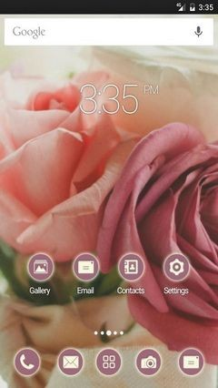 Roses bouquet Nova Launcher Theme
