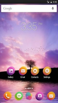 Tree pink sunset ADW Launcher Theme