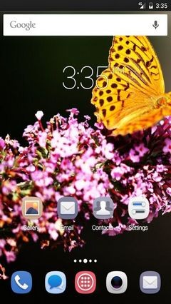 Butterfly in botanic garden ADW Launcher Theme