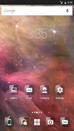 Galaxy wallpaper GO Launcher Theme