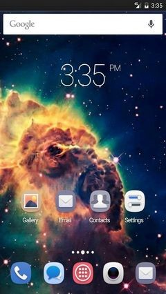 Galaxy colors Nova Launcher Theme