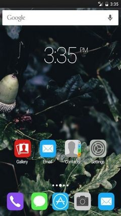 Acorn branches GO Launcher Theme