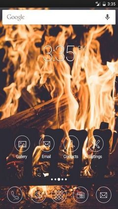 Fireplace fire firewood GO Launcher Theme