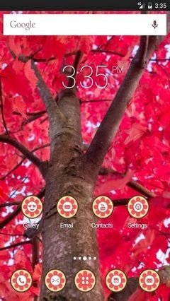 Tree red branches Apex Launcher Theme