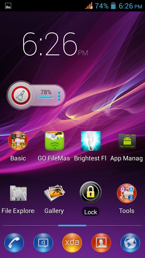 xperia Z theme for 91 launcher