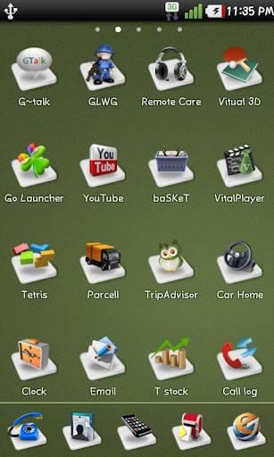 3D Icon GO Launcher Theme 4.1